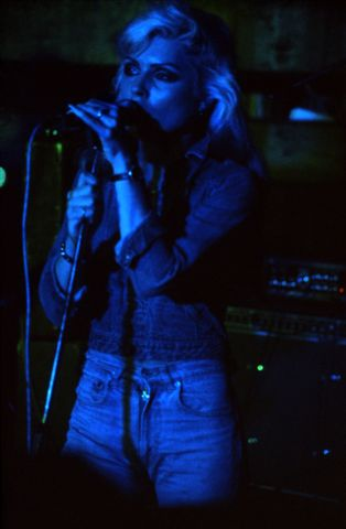 Debbie Harry at Dingwalls. Blondie's first gig in UK.