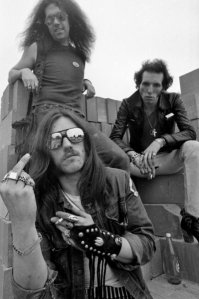 Lemmie of the new band Motorhead, in 1975 This was one their first publicity photos.